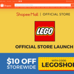$10 off ($75 Minimum Spend) at LEGO via Shopee