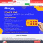 Shopback: Stamp and Save - up to $17 Cashback Bonus