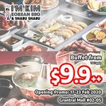 $9.9 at I'm Kim KBBQ & Shabu Shabu Opening Promo at Grantral Mall (Minimum 3 Pax)