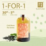 1 for 1 Cold Brew Tea Series at Nayuki