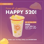 Free Milk Tea with Aiyu (L) with Any Order at Each-a-Cup
