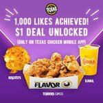 $1 BTS Deal on Texas Chicken Mobile App