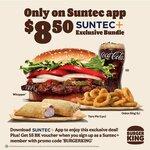 Whopper, Taro Pie, Onion Rings & Small Drink for $8.50 at Burger King (via Suntec+ App)