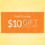 Partea $10 Gift Voucher $5.80 @ Partea via Qoo10