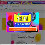ezbuy 11.11 Singles Day - Receive $50 Worth of Vouchers if Spending Above $150 Before 7am