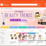 $5 off 'Top Korean Beauty Trends' at Shopee (Minimum Spend $20)