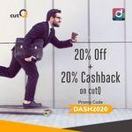 20% off + 20% Cashback at cutQ with Singtel Dash