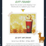 $2 off Any Drink at Starbucks