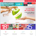 $10 off + Free Delivery ($40 Minimum Spend) at RedMart for New LiveUp Members