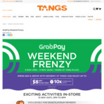 Up to $8 off Grab Rides and up to 10x GrabRewards Points - Spend $50 or More with GrabPay at Tangs