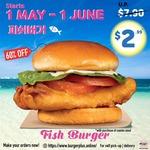 Fish Burger for $2.99 (U.P. $7.90) at Burger+