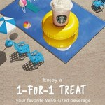 1 for 1 Offer on All Venti-Sized Drinks/Beverages at Starbucks (15th to 17th May, 3pm to 7pm)