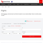 Qantas Flights from Singapore to Melbourne from S $180* One-Way, All-in