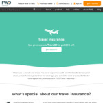 20% off Travel Insurance at FWD Insurance