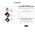 Free 15 Minute Choose Your Glow Service & Sample from Chanel (In-Store)