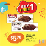 Buy 1 Get 1 Free on Haagen Daz Vanilla Caramel Almond or Cookies & Cream Stick Bars ($5.90) at 7-Eleven