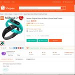 Xiaomi Mi Band 2 for $20.60 (New Customers) or $27.60 Delivered (Existing Customers) from accessories_sg at Shopee