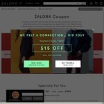 13% off Sitewide at Zalora ($120 Minimum Spend)