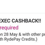 47% Cashback on RydeX, RydeXL and RydeEXEC Rides with RYDE (11am to 3pm)