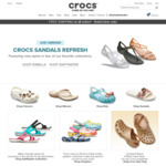 30% off Flips and Sandals at Crocs