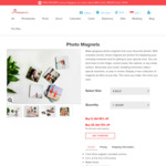Buy 2, Get 25% Discount on Personalized Photo Magnets at Photojaanic