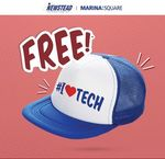 Free Trucker Cap from Newstead Technologies at Marina Square - Take a Selfie at an Advertising Site