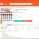 $1.90 for 6x Energizer Max AA Alkaline Batteries Delivered by Instaxmoment at Shopee