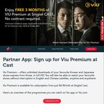 Free 3 Months of VIU Premium at Singtel CAST (No Contract)