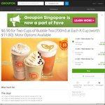 700mL Bubble Tea: 2 Cups for $6.90, 4 Cups for $12.90 or 6 Cups for $17.70 at Each-a-Cup via Groupon