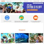 $15 Off Minimum $150 Spend at Klook (Via Klook App)