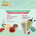 3x Jelly Delights for $4.60 (U.P. $6 / 22% off) or Matcha Azuki/Lychee Pop for $2.20 (U.P. $3.80) at Mr Bean