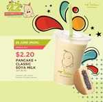 Mr Bean Pancake + Classic Soya Milk $2.20 Today Only (U.P. $2.70)