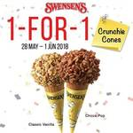 1 for 1 Crunchie Cones at Swensen's via App (Monday 28th May to Friday 1st June)
