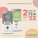 2 Tins of Teas (Worth $16.90 Each) at $22 from Coffee Bean via GrabFood