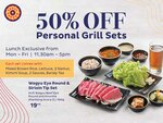 50% off Personal Grill Sets at Seoul Garden