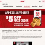 $5 off ($20 Min Spend) on First Order via KFC App