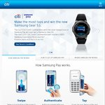 Win 1 of 5 Samsung Gear S3s or 1 of 1000 $50 Samsung Experience Store Vouchers from Citibank