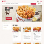 Popcorn Chicken for $2 at KFC (Online) [$20 Minimum Spend]