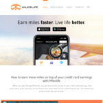 1500 Miles on First Transaction at Mileslife ($49 Minimum Spend)