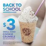 Small Cookie Crumble Ice Blended for $3 at The Coffee Bean & Tea Leaf (NTU and Ngee Ann Polytechnic)