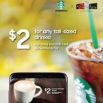 $2 for Any Tall Sized Drink at Starbucks (Samsung Pay, UOB Cards)