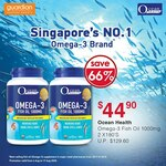 Ocean Health Omega-3 1000mg Twin Pack for $44.90 (Save 66%, U.P. $129.60) at Guardian
