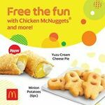 9pc Chicken McNuggets Ala Carte for $5 (U.P. $6.70) at McDonald's via GrabFood