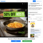 50% off Pizza & Rosti at Marche Movenpick (Selected Stores)
