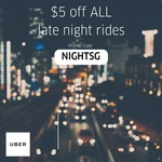$5 off All Late Night uberX and uberPOOL Rides with Uber (Friday 29th April to 5th May, 12am to 6am Daily)