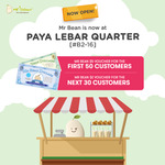 Bonus $5 (First 50) or $2 (First 30) Voucher with Any Purchase at Mr Bean [Paya Lebar Quarter]