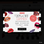 20% off Selected Lipsticks at Sephora