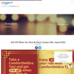 $3 off Rides to Peach Garden with ComfortDelGro Taxi