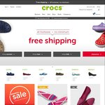 Crocs - Free Shipping Sitewide (No Minimum Spend)