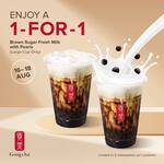 1 for 1 Large Brown Sugar Fresh Milk with Pearls at Gong Cha